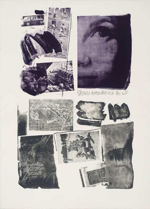 """Robert Rauschenberg, """"Pledge"""", 1968. Lithograph on paper."""