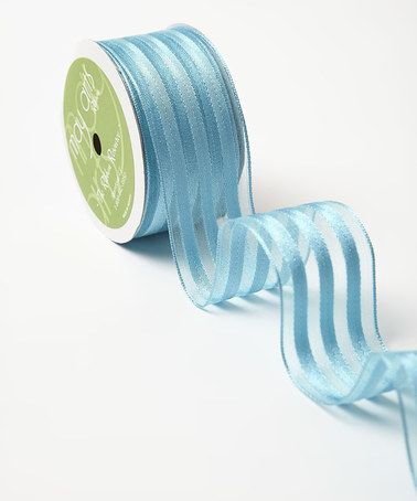Another great find on #zulily! Light Blue Sheer & Woven Stripes 1.5'' Ribbon #zulilyfinds