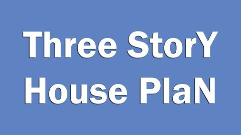 House Design Plan 7x13m With 3 Bedrooms Samphoas Plan Three Story House Small House Design How To Plan