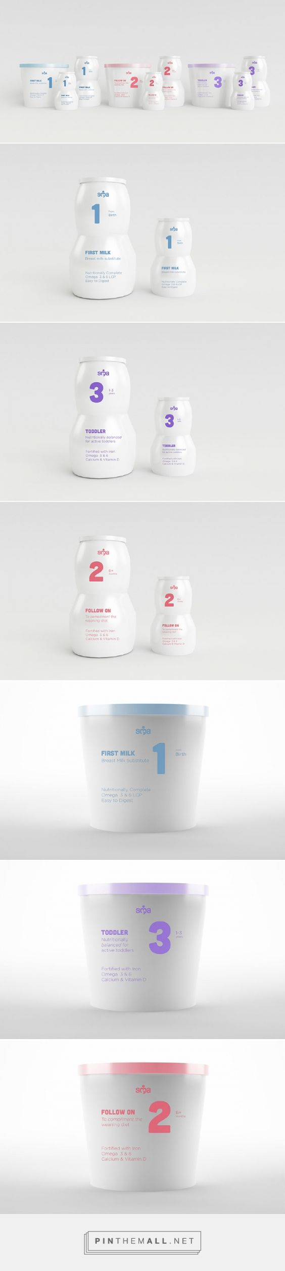 SMA Infant Nutrition via InspirationDaily by Michael James Phillips, Netherlands,  Amsterdam curated by Packaging Diva PD. Recreating a design with structure, hiarchy, and overall a better informational system, Michael James Phillips designed a strong strategy to create a package that was simplified, and more appropriate for the market.