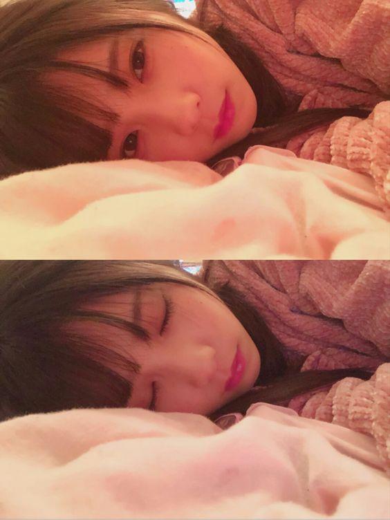 眠る与田祐希