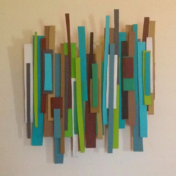 DIY cardboard mod wall art!! Handmade with love!
