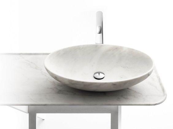 Lavatório de apoio de mármore BOWL N°10 by Kreoo design Enzo Berti