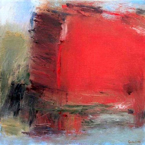 Greta-Sandahl - Light by water #red #abstract #painting