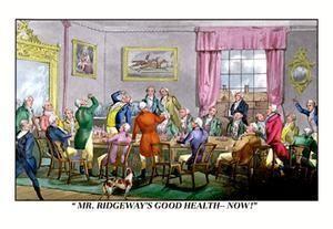 Art Print Drink To Mr. Ridgeway's Good Health New DB-24025