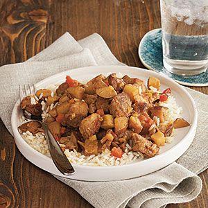 105 Slow-Cooker Favorites | Curried Pork over Basmati Rice | CookingLight.com: Cooker Recipes, Pork Myrecipes, Rice Myrecipes, Asian Recipes, Rice Cookinglight, Crockpot Recipes, Pork Curry Recipes, Basmati Rice Recipes, Recipes Cooking