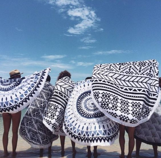 Roundie towels available at The Beach People & Free People.: