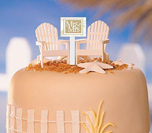 Cakesupplyshop White Small Mini Decorative Adirondack Beach Chair
