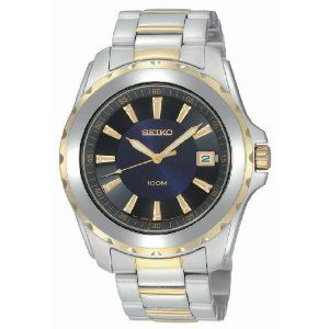 Seiko Men's SGEE72 Sport Two-Tone Solid Stainless-Steel Case and Bracelet Dark Blue Dial Watch (Watch)  http://www.picter.org/?p=B002X79N1K