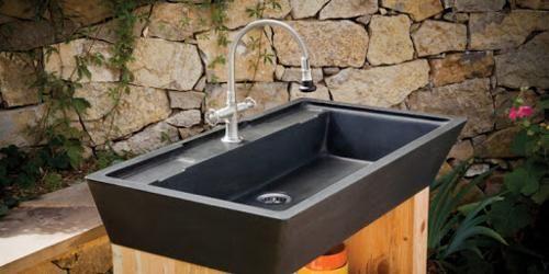 outdoor sinks stone sink kitchen