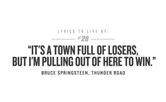 Thunder Road. Bruce Springsteen.