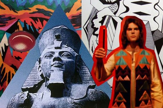 """Collage from Kenneth Anger's """"Lucifer Rising"""""""