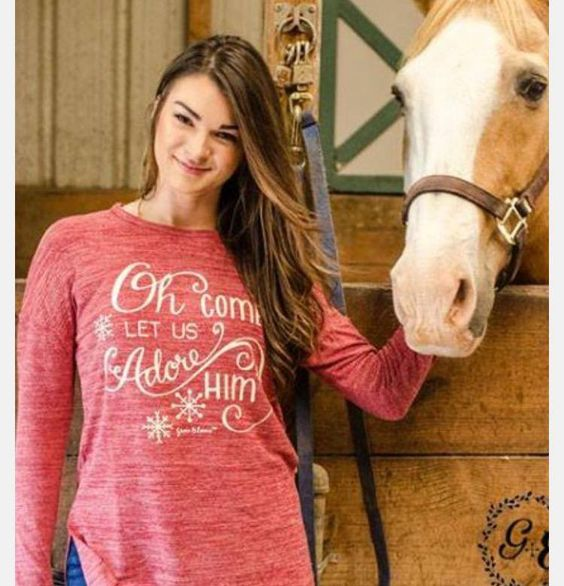 Oh Come Let us Adore Him Long Sleeve
