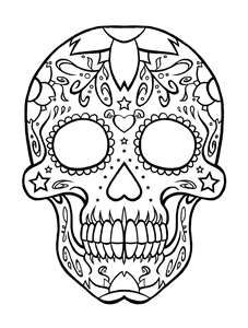 candy skull tattoo for my girls ms courtney and madison page - Sugar Skull Tattoo Coloring Pages
