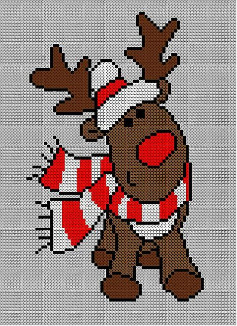 Christmas Rudolph Reindeer Jumper / Sweater Knitting Pattern #31.