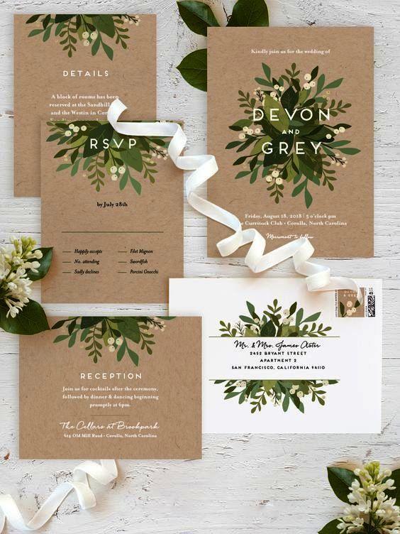 Awesome Wedding Invitations Etsy