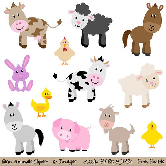Clip Art Farm Animals Clipart farm animals clipart clip art barnyard new commercial and personal
