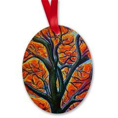 Heart of it All- Oval Ornament on Artwork and Play by D Renee Wilson