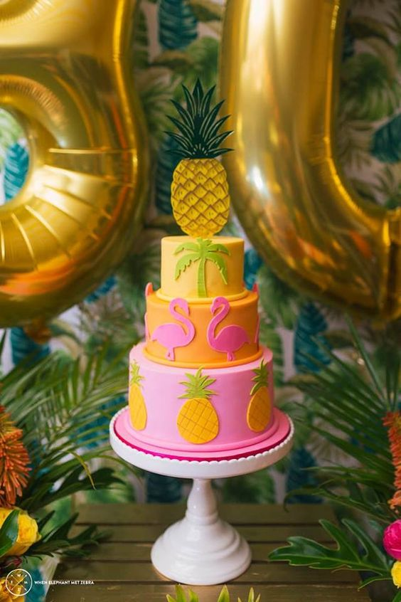 Little Big Company The Blog: Fabulous Aloha Themed 30th Birthday Party by Perfectly Sweet : beautiful cake