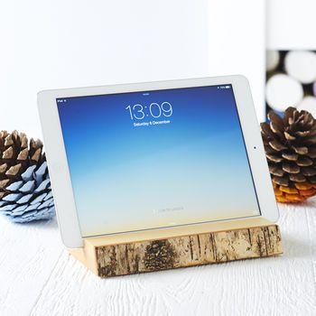 Halter für iPads und Tablets aus Birkenholz