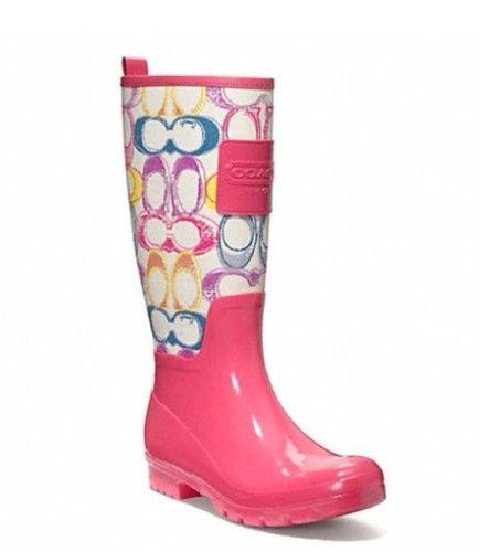 purple rainboots | Dream Artists: Coach Rain Boots | Pink too ...
