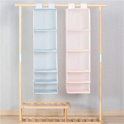 Original Xiaomi Mi Home 5 Schichten Hangen Closet Organizer Haushalt Hangen Faltbare Aufbewahrungsta Hangeschrank Regal Hangeschrank Kleiderschrankorganisation