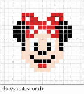 minnie mouse perler bead pattern disney pinterest disney souris et perles. Black Bedroom Furniture Sets. Home Design Ideas