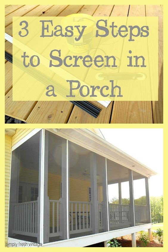 Screen Your Porch In 3 Easy Steps Chang E 3 Screens