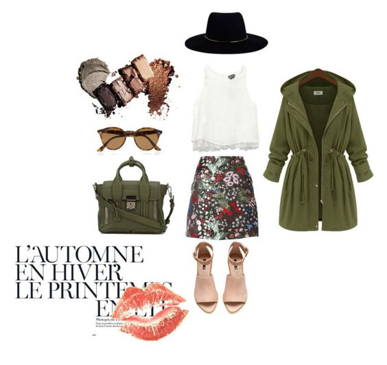 """Fall (Mini skirts)"" by maroonisvintage on Polyvore featuring beauty, Wet Seal, Valentino, H&M, 3.1 Phillip Lim, Zimmermann, Ray-Ban and Été Swim"