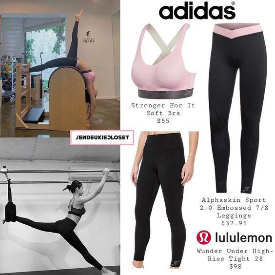 "𝗞𝗜𝗠 𝗝𝗘𝗡𝗡𝗜𝗘 𝗖𝗟𝗢𝗦𝗘𝗧 on Instagram: ""190707 - @jennierubyjane Instagram update #ADIDAS (@adidas) Stronger For It Soft Bra - Alphaskin Sport 2.0 Embossed 7/8 Leggings…"""