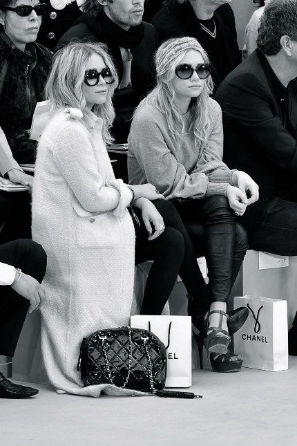 Mary Kate and Ashley Olsen at Chanel.