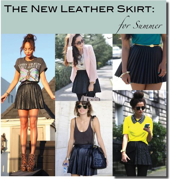 outfit ideas for my pleated leather skirt | Style Inspiration ...