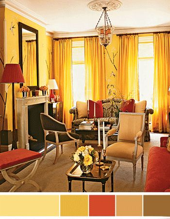Interior Color Schemes Yellow Green Spring Decorating Paint Colors Living Room Colors And