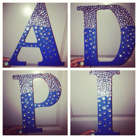 diy alpha delta pi letters greek adpi