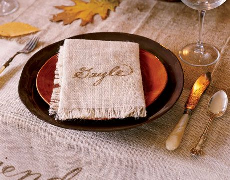 Table Napkin Placecard