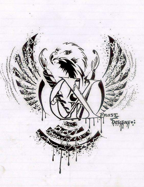 breaking letter logo