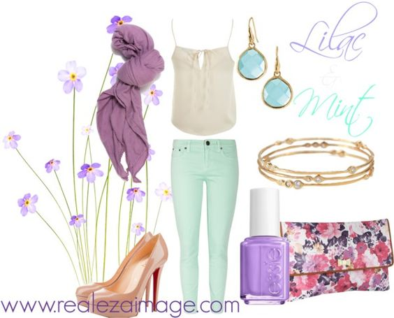 Lilac & Mint, created by realezaimage on Polyvore