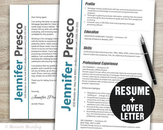 Instant Download Resume Template Classy by BusinessBranding, $1500