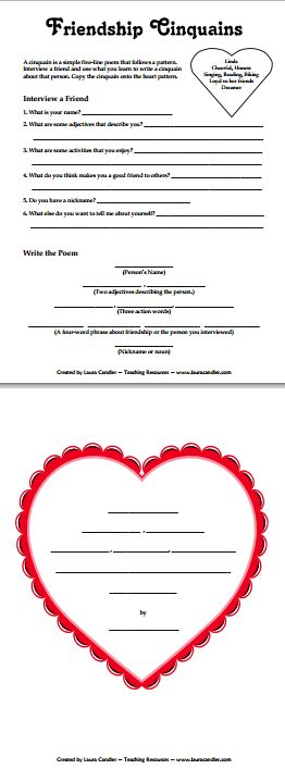 valentines day poems esl