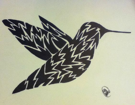 Artistic Hummingbird that I drew.
