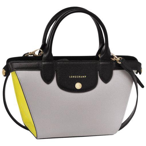Small handbag - Le Pliage H��ritage Tricolore - Handbags - Longchamp - Ecru/black/
