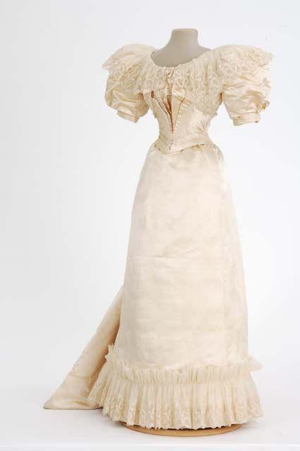 Wedding Dress, circa 1890s, via Minnesota Historical Society.