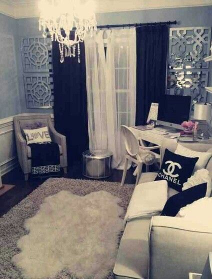 Classy Girly Living Room Design