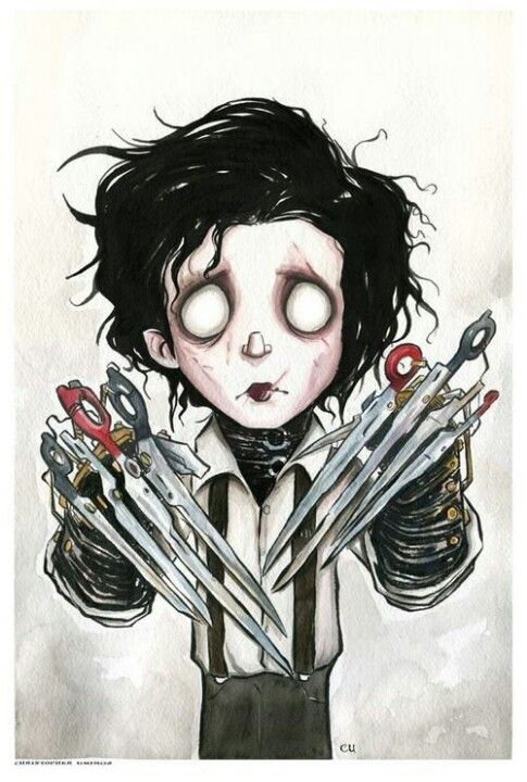 Aww... Edward Scissorhands.  He wasn't a monster, he was sweet.