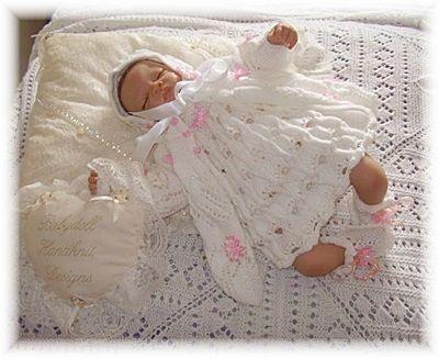 16-22 pulgadas muñeca / 0-3m bebé-coat 'Inglés Country Garden', vestido, capo, botines