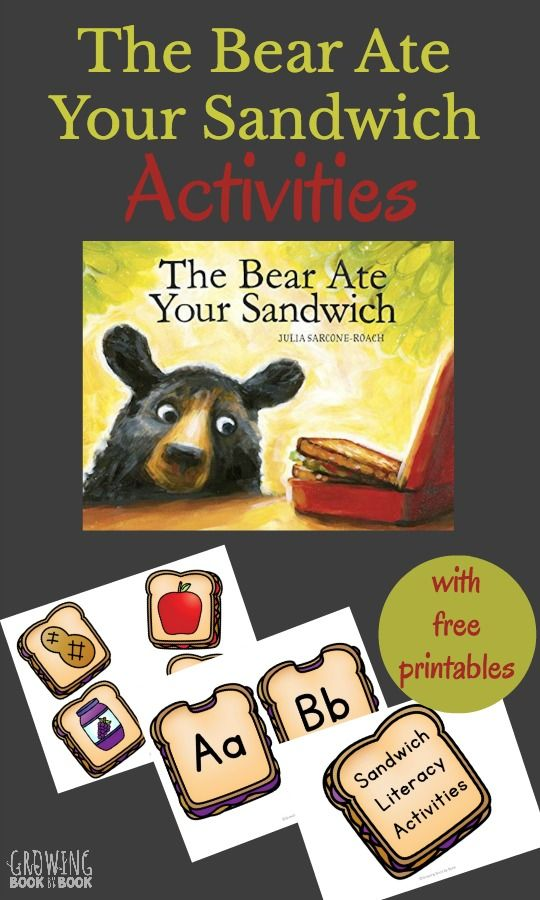 The Bear Ate Your Sandwich Activities are full of fun literacy activities for…
