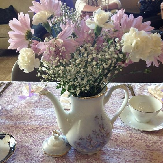 Tea Party Centerpieces: Tea Parties, Tea Party Centerpieces And Bridal Shower On