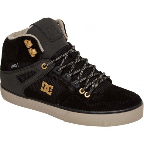 DC Spartan High WC Water Resistant Shoes - Black/Black/Grey