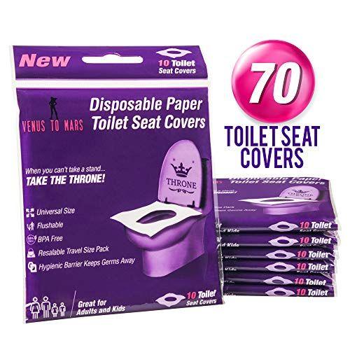 Venus To Mars Disposable Toilet Seat Covers 70 Flushable Toilet