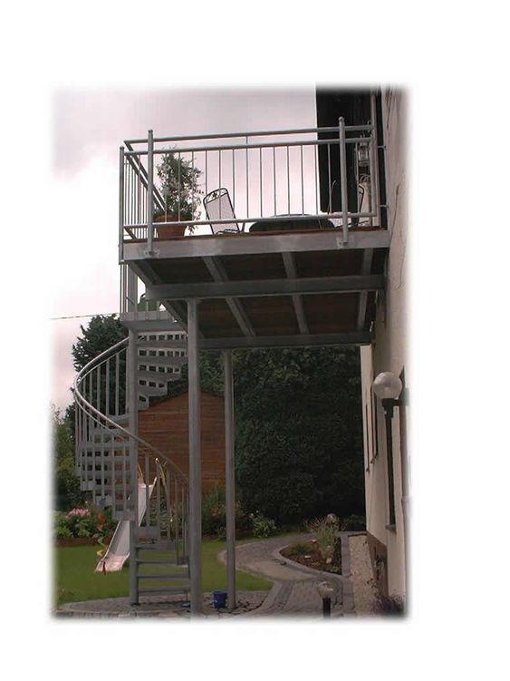 Anbaubalkon Verzinkt Mit Spindeltreppe Gelander Balkon Treppe Aussentreppe